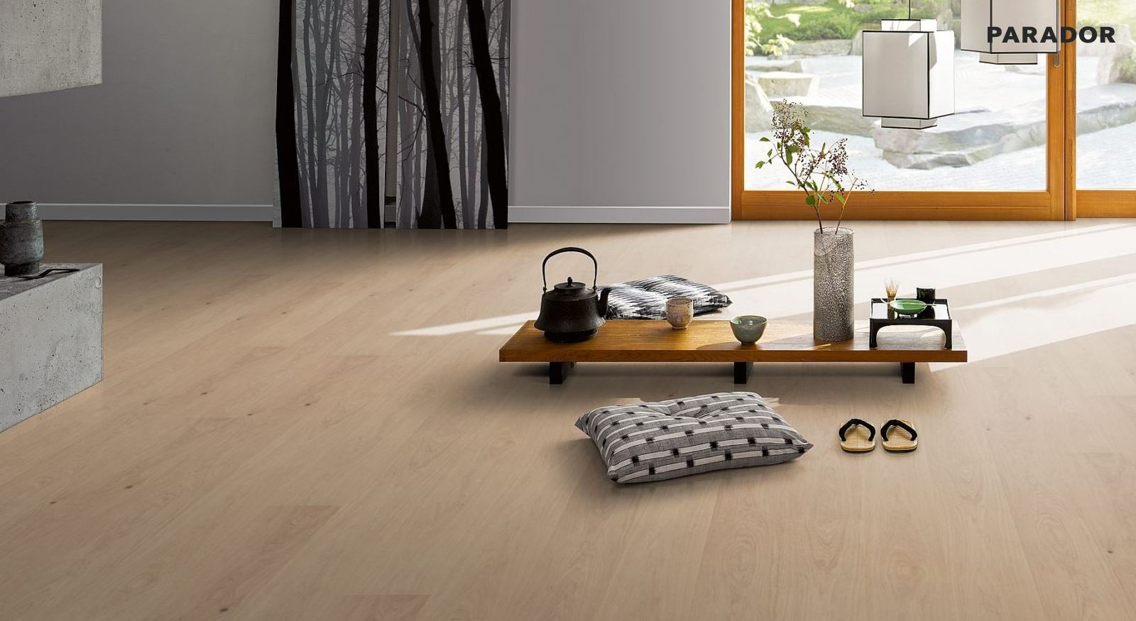 36 95 pro m parador vinylboden modular one mit integriertem kork trittschall ebay. Black Bedroom Furniture Sets. Home Design Ideas